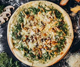 Картинки Быстрое питание Пицца Грибы Пища