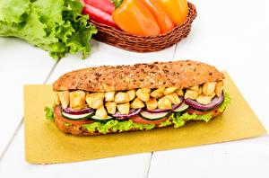 Картинки Фастфуд Сэндвич Овощи Мясные продукты