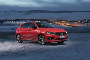 Картинки Fiat Красный Металлик 2019 Egea Sport Машины