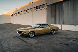 Фото Ford Желтые Mustang RDJ Boss 302 SpeedKore Автомобили