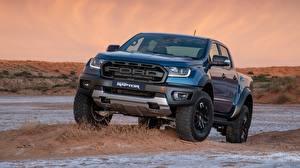 Картинки Форд Спереди Пикап кузов Raptor Ranger 2019 Автомобили