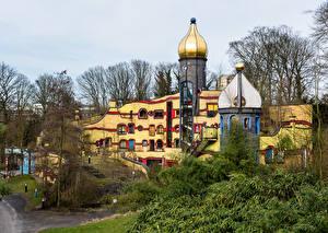 Обои Германия Парки Здания Дизайн Essen Grugapark