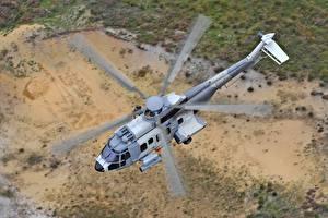 Обои Вертолеты Летят Сверху Airbus Helicopters H225M Авиация