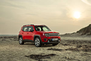 Обои Jeep Красная 2018-19 Renegade Limited машина