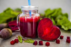 Фотографии Сок Овощи Свёкла Кружка Сердце