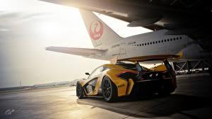 Фото McLaren Gran Turismo Сзади GTR P1 Gran Turismo Sport Игры Автомобили