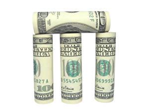 Обои Деньги Банкноты Доллары Белый фон