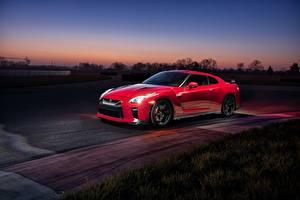 Обои Nissan Красный GTR Track Edition 2017 Автомобили картинки