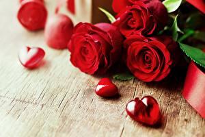 Фото Роза День святого Валентина Красных Сердечко цветок