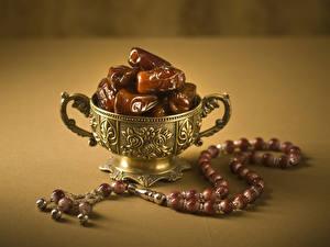 Фотографии Сладкая еда Вазы Сухофруктов Продукты питания