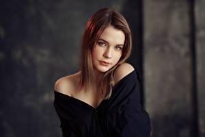 Обои Милая Красивая Шатенки Смотрят Taya, Evgeniy Bulatov молодые женщины