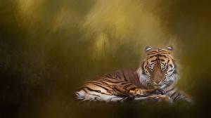 Фотографии Тигры Рисованные