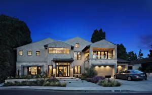 Фото Штаты Дома Вечер Особняк Дизайн Гараж Newport Beach