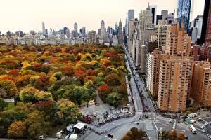 Обои США Дома Парки Нью-Йорк Манхэттен Города