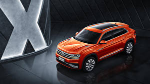 Фото Фольксваген Оранжевых 2019 Volkswagen Teramont X машина