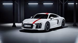 Фотографии Audi Белый R8 2018 V10 RWS авто