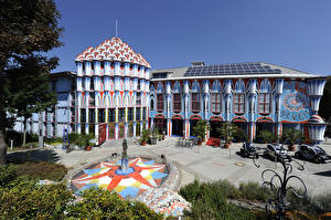 Фотографии Австрия Фонтаны Дома Гостиница Magdalensberg Города
