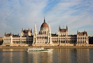 Фото Будапешт Венгрия Реки Речные суда Danube