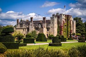 Обои Замки Англия Траве Дизайн Кусты Hever castle Города