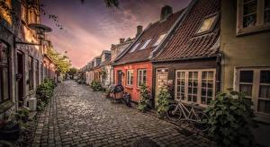 Картинка Дания Дома Улица Aarhus Города