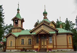 Картинка Финляндия Церковь Church of St. Nicholas, Joensuu Города