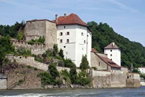 Фотографии Германия Замок Бавария Passau город