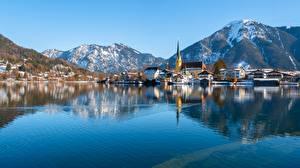 Фотографии Германия Гора Озеро Бавария Tegernsee, Rottach-Egern