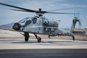 Обои Вертолеты AH-64 Apache Взлетает АН-64Е Indian Air Force