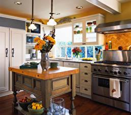 Обои Интерьер Дизайна Кухни Стола