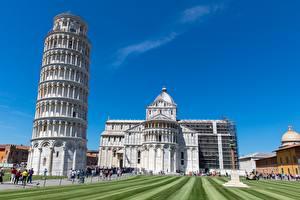 Картинка Италия Тоскана Башня Pisa
