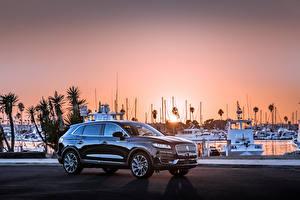 Картинки Lincoln Черный Металлик 2019 Nautilus автомобиль