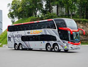 Картинка Мерседес бенц Автобус 2018-19 Marcopolo Paradiso 1800 DD O 500 RSDD 8×2 Автомобили