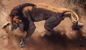 Фото Рисованные Львы Оскал Africa s deadliest животное