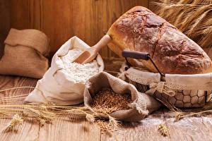 Обои Выпечка Хлеб Мука Колос Зерна