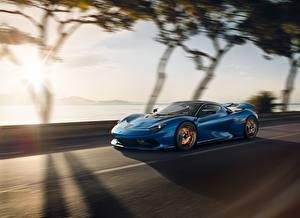 Картинки Pininfarina Синий Скорость Battista машины