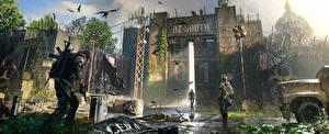 Картинка Дождь Tom Clancy Ворота The Division 2 Dark Zone Игры
