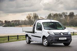 Фотографии Renault Пикап кузов Белый 2019 Kangoo Z.E. Pick-up автомобиль