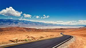 Картинка Дороги Америка Парк Калифорнии Death Valley National Park Природа