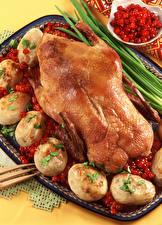 Фотографии Курица запеченная Картошка