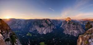 Фото Пейзаж Гора Небо Лес Штаты Йосемити