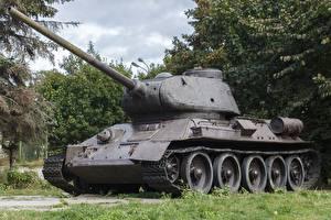 Картинки Танки Памятники Т-34 Т-34-85
