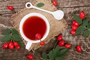 Картинки Чай Чашка Шиповник плоды Пища