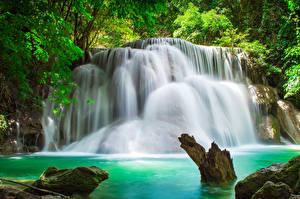 Фотографии Таиланд Парки Водопады Природа