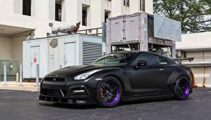 Обои Стайлинг Ниссан Черные GTR автомобиль