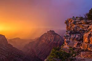 Обои США Гранд-Каньон парк Парк Гора Рассветы и закаты Природа