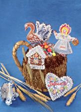 Картинка Пшеница Сладкая еда Печенье Колос Продукты питания