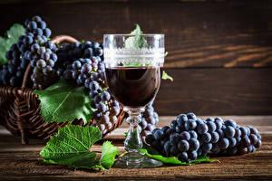Обои Вино Виноград Бокал