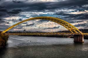 Обои Мосты Реки США Ohio, Cincinnati город