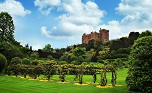 Картинки Сады Парк Замок Уэльс Kingdom Of Powis, Powis castle город