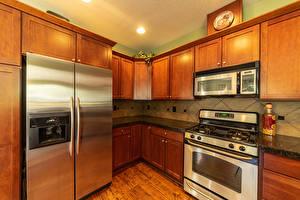 Картинки Интерьер Дизайна Кухни Холодильник